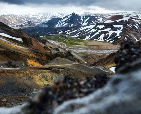downhilling in Landmannalaugar